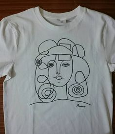 Simple Line Drawing by Pablo Picasso on a shirt. Sold in SolukWorkshop on Etsy #picasso #art