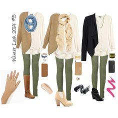 Winter Look 2014 #5 Olive green pants/leggings