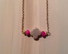 Simply beautiful deep pink ruby and taupe agate by lovelybylara, $15.00