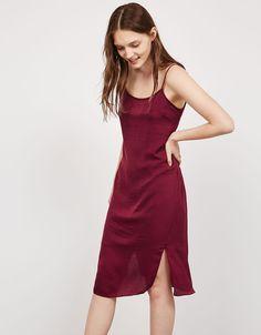 Open back slip dress - Dresses - Bershka Georgia
