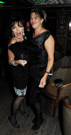 Art crowed, Joan Collins and Tracey Emin