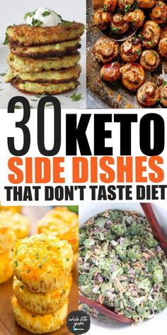 Diabetic Side Dishes, Low Carb Side Dishes, Healthy Side Dishes, Side Dishes Easy, Side Dish Recipes, Keto Recipes, Dinner Recipes, Chef Recipes, Diabetic Recipes