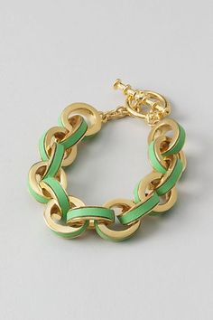 Inlay Link Ring Bracelet