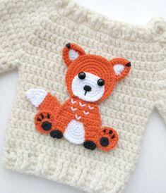 Transcendent Crochet a Solid Granny Square Ideas. Inconceivable Crochet a Solid Granny Square Ideas. Crochet Fox, Love Crochet, Crochet Animals, Single Crochet, Blanket Crochet, Crochet Flower Patterns, Applique Patterns, Crochet Flowers, Mobiles En Crochet