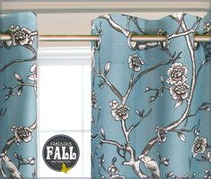 Classic Grommeted Curtain Panel: Fabulous Fall with Fabric.com | Sew4Home