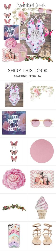 """Twinkle Deals"" by ericjen8685 ❤ liked on Polyvore featuring Trademark Fine Art, Sheriff&Cherry, Colonial Mills, Ballard Designs, Fetco, Nearly Natural, Judith Leiber, Casetify, WALL and Valentino"