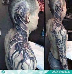 amazing-biomechanical-tattoo.jpg (600×617)