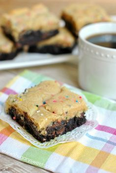 Sugar Brookies: a delicious combo of Sugar Cookies and Brownies. Don't forget sprinkles!
