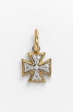 Konstantino 'Classics' Diamond Cross Charm available at #Nordstrom