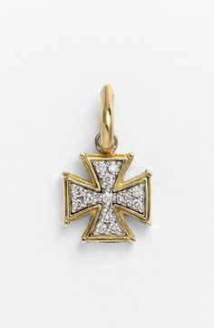 Konstantino 'Classics' Diamond Cross Charm available at #Nordstrom