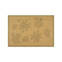 Safavieh Courtyard Leaf Indoor Outdoor Rug, Beig/Green (Beig/Khaki)