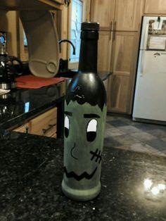 Frankinstein wine bottle diy