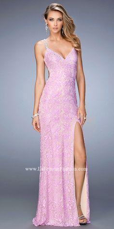 Pretty Lace Prom Dress by La Femme