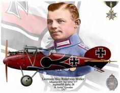 Leutnant Max Ritter von Müller by A. Hermann