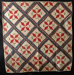 Antique 1840 Crescent Moon Stars Quilt | eBay, paris0813