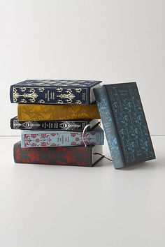 more clothbound penguin classics from anthropologie - sense and sensibility, wuthering heights, great expectations, pride and prejudice, jane eyre