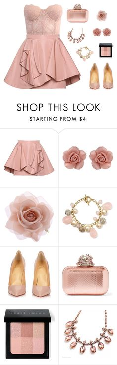 """""""Dusty Rose"""" by tantisper on Polyvore featuring Miu Miu, Dorothy Perkins, Accessorize, Carolee, Christian Louboutin, Jimmy Choo and Bobbi Brown Cosmetics"""