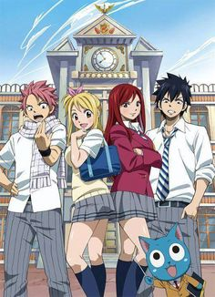 fairytail's strongest team... just put in wendy and it will be complete