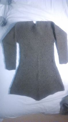 Needlebound / nalbound sweater made with rather thick loosely twined two ply yarn from Norway and unknown stitch, by Markus Erhardsson. Posted [in Swedish] 2015-02-19 in the Nålbindning group @ FaceBook. Please see link for thread!
