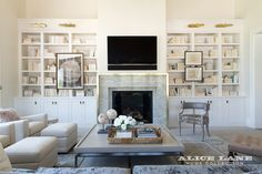 Fireplace surround.  Show N' Tell – French Moderne Manor: Part V | Alice Lane Home Collection