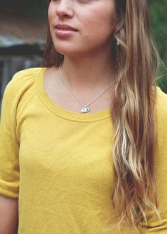 sterling teenie tiny initials necklace