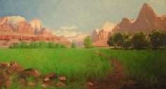 1903 Painting of Zion Canyon by Frederick S. Dellenbaugh