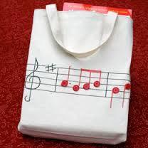 bolsos a crochet con notas musicales - Buscar con Google