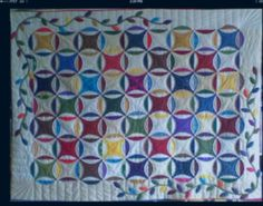 """I finished all the quilts I was hired to do for Bev, that was a lot of fun! I finished the """"Rob . Cathedral Quilt, New York Beauty, Wedding Ring Quilt, Circle Quilts, Quilt Of Valor, Hand Applique, Scrappy Quilts, Hand Quilting, Getting Things Done"""