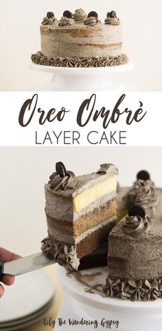 Ombre Oreo Cake Recipe with New COOL WHIP Mix-Ins, Oreo