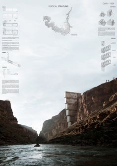 Ergebnis: Canyon View Accommodation … competitionline – About Graphic Design Sacred Architecture, Architecture Board, Architecture Visualization, Architecture Student, Architecture Drawings, Architecture Details, Landscape Architecture, Landscape Design, Presentation Board Design