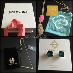Just received my @rocksbox in the mail today! It's a jewelry subscription box that allows you to wear unlimited jewelry styles from day to night or casual to formal. You can purchase them if you'd like or you could just wear it for an event or night out or a brunch. When you're over them and want to wear something new then send them back for another set of jewelry! They take a survey of what you like and they allow you to pick your favorite styles and a personal stylist puts them together…