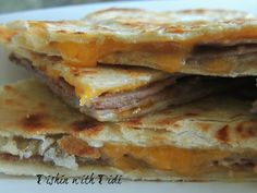 Deli Roast Beef & Cheddar Quesadillas...Thank you Didi..I have to make these..love Quesadillas!