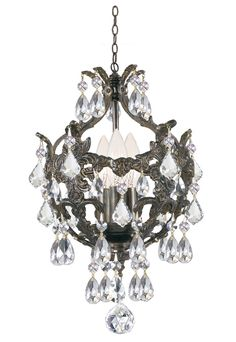 Buy the Crystorama Lighting Group English Bronze / Flush mount Direct. Shop for the Crystorama Lighting Group English Bronze / Flush mount Crystal Three Light Up Lighting Dual Mount Ceiling Fixture from the Legacy Collection and save. Mini Chandelier, Bronze Chandelier, Vintage Chandelier, Crystal Ceiling Light, Ceiling Lights, Ceiling Fans, Wall Lights, French Country Chandelier, Appliques