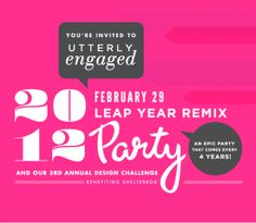 NEON!! Utterly Engaged's 2012 Leap Year Remix Party!