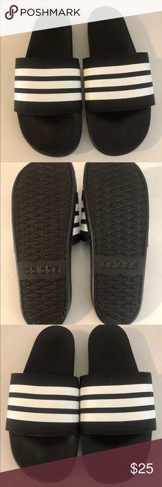 615a2ca31 New Adidas Adilette Comfort Slides Sandals. New Adidas Adilette Comfort Slides  Sandals Cloudfoam Black White