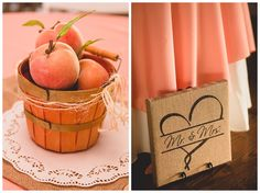 Peaches. #Southern wedding ideas. Mallorie + Casey // Rustic Wedding at Lenora's Legacy // Photo by Hannah Woodard Photography