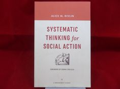 Systematic Thinking for Social Action by Alice M. Rivlin 2015 Softcover  #SystematicThinkingForSocialAction #Sociology #AliceMRivlin #Educational #Bonanza