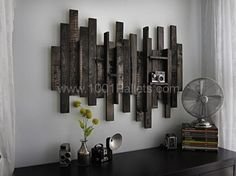 Wall Decor Idea from Pallet Wood | 1001 Pallets