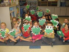 """Read the book """"What's for Dinner"""", then make their own alligators with mouths that actually open."""