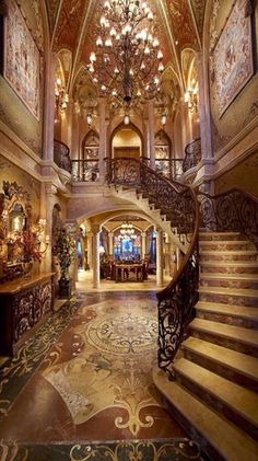 Luxury Foyers & Entrances⭐️ Luxury Homes, Luxury Mansions, Grand Staircase, Grand Foyer, Spiral Staircase, Luxury Interior, Interior Design, Luxury Furniture, Models
