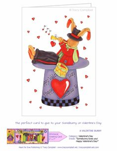 Valentine's Day is 19 days away. Give your Somebunny this lovely greeting card.