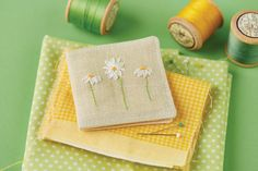 Daisy needlecase from the June 2015 issue of CrossStitcher magazine.