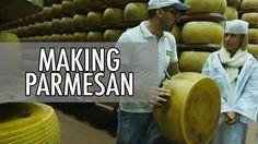 Video (italiaksi englanninkielisellä tekstityksellä): How to Make Parmesan - Parmigiano-Reggiano Cheese Making in Italy