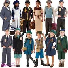 Image is loading 1940s-Evacuee-Wartime-Curriculum-WW2-VE-Day-Kids-