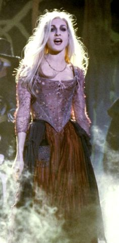 Sarah Sanderson from Hocus Pocus- although her two sisters represent the 'Hag' – Sarah embodies a new way of looking at the Witch, much like the vampire, the twentieth century has sexualised these monstrous women.