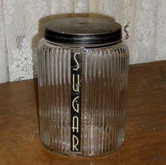 Vintage 1930s Owens-Illinois Ovoid Sugar Canister