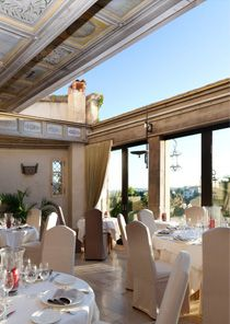 HAUT-DE-CAGNES is one of Provence's best-preserved perched villages. Steep, cobbled lanes lead into artists' workshops, which are hidden behind stone archways. Restaurant: CHATEAU LE CAGNARD