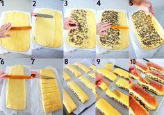 BRIOCHES SUISSES DE CHRISTOPHE FELDER. Pour 8 à 10 brioches individuelles : pâte à brioche, crème pâtissière extra, garniture et finition.