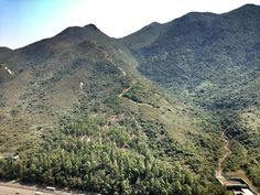 The view here in Tung Chung includes mountains. Not uncommon in Hong Kong. snapseed