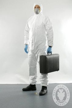 Forensic scene investigators attend crime scenes to search for evidence. These outfits can be worn to ensure crime scenes are not contaminated.